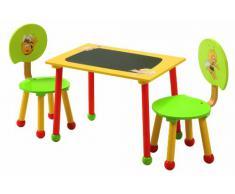 roba Maja 50811 BM1 - Mesa con dos sillas de madera para niños, diseño La abeja Maya [importado de Alemania]