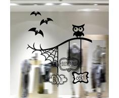 GYMNLJY Pegatinas de pared Halloween hogar decoración ventana etiqueta niños dormitorio pared etiqueta composición tipográfica , 58*44cm