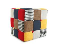Versa Solid Patchwork - Taburete cubo, multicolor