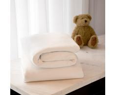 Clevamama - Juego de 2 sábanas bajeras para cama infantil de algodón de punto, 60 x 120 cm blanco