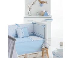 Bimbi Class - Edredón, 62 x 125 cm, color blanco y azul