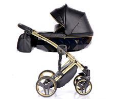 Cochecito de bebé Junama Diamond Fluo Line 2en1 carro duo capazo+silla (negro)