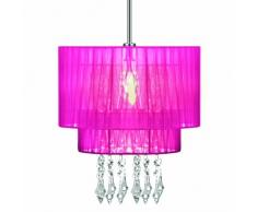 Premier Housewares Riband - Pantalla de lámpara colgante de techo (31 x 20 x 20 cm), color rosa