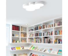 Lámpara LED dormitorio lámpara nube diseño lámpara de techo lámpara infantil lámpara de techo colorida iluminación interior habitación infantil lámpara de techo iluminación 52 * 31 cm