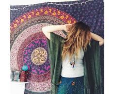 La India HANDICRAFTOFPINCITY dormitorio juvenil diseño Hippie manta de algodón colcha de colgar en la pared de la Reina