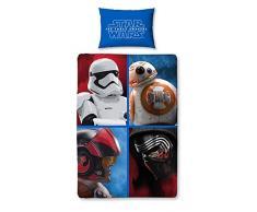 Sahinler/Star Wars Lucas Film Disney 22010031– Juego de cama (funda de edredón de 140x 200 cmy funda de almohada de 63x 63 cm,polialgodón), color azul