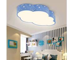 JINWELL Plafón de iluminación LED de Techo Redondo Luz de Techo LED Nubes Creativas Lámpara de Techo Habitación para niños Lámpara de Techo Niños Azules y niñas Dormitorio Lámpara de Techo de Dibujos