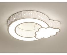 ZHDC® Techo de la habitación de los niños, simple moderno Nubes Creative llevó luz de techo Niños y niñas Warmth Princess habitación Dormitorio luces Lámpara de techo fácil de limpiar ( Color : #1 , Tamaño : 50*42cm )
