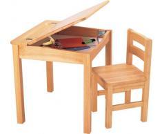 Pintoy 02929 - Juego de mesa y silla infantil de madera de caucho