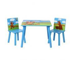 Infantastic - Mesa y sillas infantiles para niños (Osito)