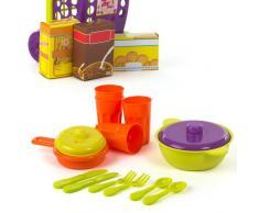 Color Baby - Set de carrito con alimentos y accesorios, 11 piezas (28759)