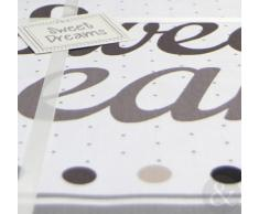 Just Contempo - Juego de funda nórdica y funda de almohada (algodón y poliéster), diseño de texto en inglés, mezcla de algodón, Natural ( brown white grey ), funda de edredón cama individual (infantil)