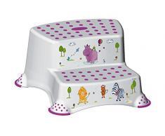 4 Set Z Hipopótamo blanco soporte para inodoro + Orinal niños + Taburete dos escalones +Cubo de pañales