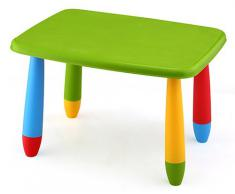 Mueblear 90046 Mesa infantil rectangular de plástico verde 73x58x48 cms