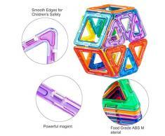 Bloques de Construcción / Bloques Magneticos, MengK Juego de Contrucción con Bloques Magneticos Magnéticos Building Blocks 100 Piezas con Imanes Kit de Juguete Educativo Para niños para La Educación del Niño de Los Ladrillos