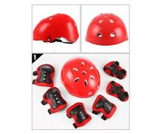 Skate cochecito de bebé equilibrio coche protector 7 piezas conjunto casco de plástico engrosado protector de mariposa