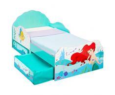 Disney Princesas Ariel-Cama Infantil para niños pequeños con cajón Inferior, Tela, Tamaño aproximado: 143 cm (Longitud) x 77 cm (Anchura) x 63 cm (Altura)
