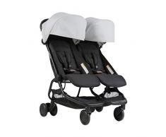 Mountain buggy Nano Duo v1 de gemelos, carrito – Plata
