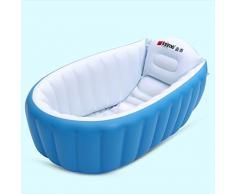 Cqq bañera Baby Bañera Los niños pueden Tub Plegable Grandes inflables ( Color : Azul )