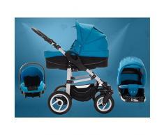 Bebebi | modelo Paris | 3 en 1 Cochecito de niño y silla de paseo Set | Ruedas de aire - Louvre