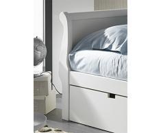 Venta-Muebles - Cama nido gondola 105 x 190 lacado blanco