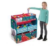 Delta juguete Organizador Niños Estantería Disney Diseños Caja