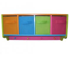 Zeller 13466 Color - Estante infantil con perchero, tablero DM (61 x 16 x 28 cm), varios colores