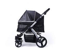ZMYTS Pet Rover Premium Heavy Duty Dog/Cat/Pet Carrito De Viaje con Compartimento Convertible/Entrada Sin Cremallera/Manillar Reversible/Neumáticos De Goma Sin Bomba para Mascotas Pequeñas, Median