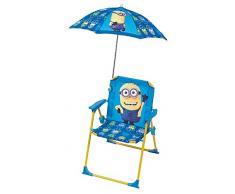Fun House 712208 Silla con sombrilla infantil, color azul/amarillo, 39 x 39 x 53 cm