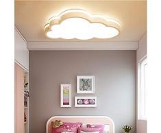 BEHWU LED Techo de la nube, techo de 360 °, para niños y niñas Lámpara de techo de dormitorio de Nursery (Regulable, Tamaño: 50 * 5.7CM 2160 Lúmenes)