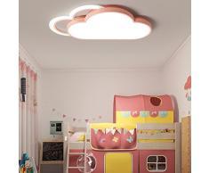 Modern Regulable LED Lámpara Infantil creativos Dormitorio Lámpara de techo multicolor Nubes Diseño Lámpara de techo Ultraslim iluminación interior lámpara Habitación de los Niños Leuchten directamente 60 cm * 33 cm * 6 cm