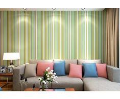 Moderno papel pintado verde dibujos animados dibujos animados letras habitación de los niños dormitorio completo tienda niños y niñas papel pintado 0,53 m (20,8 cm) * 10 m (32,8 ') = 5.3sqm (gris), Wallpaper only, Fresh green