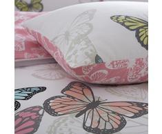 Pieridae nuevo mariposas completo juego de cama, funda de edredón juego de muebles para dormitorio solo doble King Super King, Blanco, matrimonio
