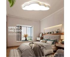 Regulable Luz de techo para Habitación infantil Plafón Dormitorio LED Moderna Macaron-estilo Creativo Arriba y abajo Iluminación de 360° Nube forma Niño Niña lámpara de techo 60 * 33cm 48W,Blanco
