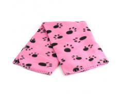 Meily Precioso Diseño Impresión de la pata caliente suave Fleece Blanket perro de mascota gato Mat Cachorro Sofá cama