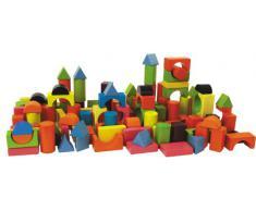 HEROS 100088001 - Bloques de madera para construcción (75 piezas)