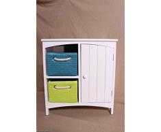 Shabby Chic. Moderno Armario auxiliar mesa auxiliar Niños Armario 2 colores cesta cajones Armario compartimento