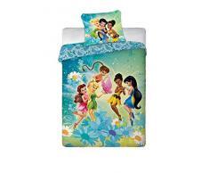 Disney Fairies Feen Tinkerbell Original ropa de cama 160x200 cm, algodón, Öko Tex - nuevo
