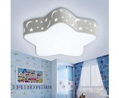 Regulable habitación infantil lámpara de techo, Iluminación de techo de interior de Niña Y Niño, Creativas Plafones infantil Estrella, Baby Niños Star Diseño romántica Focos para el LED Luz Techo