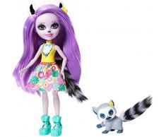 Enchantimals - Muñeca Larissa Lemur con Mascota Ringlet (Mattel GFN44)