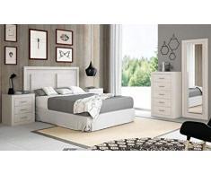 Muebles Baratos Dormitorio Matrimonio Completo, Subida A Domicilio, Cabecero, 2 mesitas, Espejo, Sinfonier, ref-79