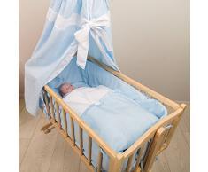TecTake Cuna mecedora completa para bebés azul