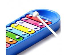 8 NOTA música xilófono infantil niños instrumento Musical juguete sabiduría inteligente Smart desarrollo Platics Musical regalo del bebé