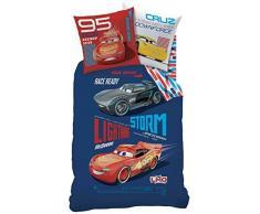 Disney Cars Generación Juego de Cama, algodón, Azul, 135x 200cm, 2Unidades de Medida