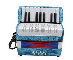 ammoon Mini Kleine 17 de Key Acordeón de 8 bajos pädagogische Instrumento Musical juguete para niños niños Amateur principiantes regalo de Navidad