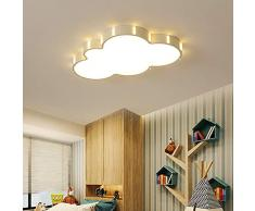 Ultra-delgado LED Lámpara de techo Blanco Dibujos animados Art Nube Diseño Plafones para Cuarto de los niños Niño Niña Habitación Balcón Moderno Iluminación del panel, Regulable con control remoto