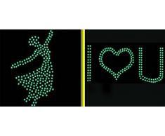 Dosige 100 Pcs Parche luminoso de la estrella Pegatinas de pared estéreo de dormitorio fluorescente 3D niños Pegatinas de pared decorativas Papel pintado de habitación de niños Colores mezclados aleatorios 3cm