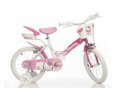 Dino Bikes Bicicleta infantil (neumáticos de 14), diseño de Hello Kitty