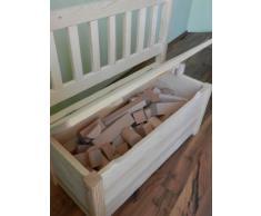Best - Banco de madera infantil con baúl en madera maciza sin tratamiento