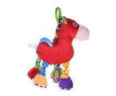 ammoon Babyfans FK1401 Caballo-modelo Relleno Musical Juguete Educativo del Juguete Incorporado en la Caja de Música por Cuna Infanette Colgante o para el Bebé que Juega